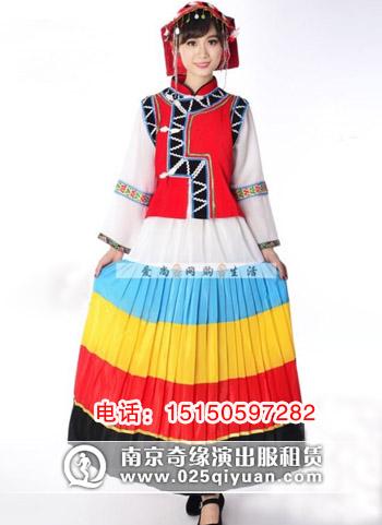 南京少数民族服装租赁,南京白族民族演出服装出租