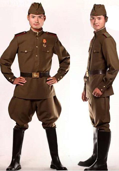 苏联军队服装原苏联红军演出服二战军装喀秋莎前苏联陆军军装